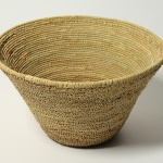 No. 171. Basket from Morocco. Woven with plant fibers using fixed stitch technique.